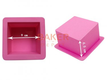 mold 500ml straight quadrel 9 * 9 * 6.5cm silicone bakeware bread moulds