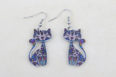 Drop Cat Earrings Dangle Long Acrylic Pattern Earring Fashion Jewelry For Women