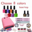 Soak-off Gel polish gel nail kit nail art tools sets kits manicure set choose 8 colors