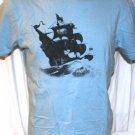 Old Navy Sailing Ship T Shirt Blue Large