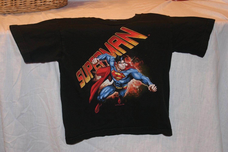 Superman KIDS Medium Black T Shirt