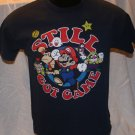 "Mario Bros ""STILL GOT GAME"" Blue Medium T Shirt"