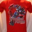 Optimus Prime Transformers Revenge of the Fallen KIDS XXL/EEG (18) Red T-Shirt