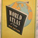 World Atlas of Today WAR EDITION WWII Hammonds Atlas