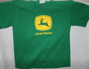 JOHN DEERE Kids SMALL 6/8 Green T SHIRT