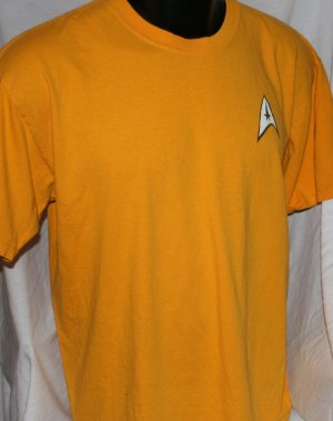 STAR TREK Command GOLD XL T Shirt Tunic