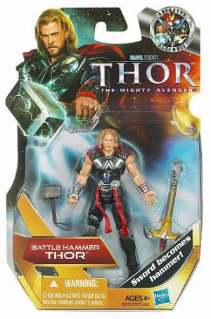 BATTLE HAMMER THOR the Mighty Avenger 3 3/4 MOVIE Figure