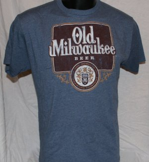 OLD MILWAUKEE BEER Large BLUE Officially Licensed T Shirt