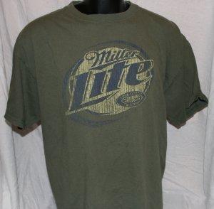 MILLER LITE Green MEDIUM T Shirt