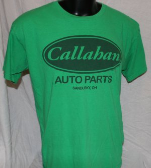 Tommy Boy CALLAHAN AUTO PARTS Large GREEN T Shirt