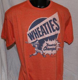 WHEATIES BREAKFAST OF CHAMPIONS Orange XXL T Shirt