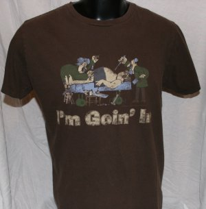 """OPERATION """"I'm Goin' In"""" BROWN Large T SHIRT"""