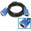 15 PIN VGA SVGA M/M MALE TO MALE MONITOR CABLE CORD BLUE FOR PC COMPUTER TV 6FT