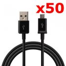50X MICRO USB DATA CABLE CORD CHARGER CELL PHONE TABLET WHOLESALE LOT NEW