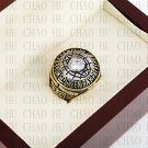 Solid Back With Team Logo wooden case 1966 Green bay packers Super Bowl Championship Ring 10-13 size