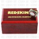 Team Logo wooden case 1982 Washington Redskins Super Bowl Championship Ring 10-13 size