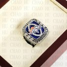 Team Logo wooden Case 2013 Denver Broncos AFC Football world Championship Ring 10-13 size