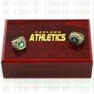 2PCS Sets 1974 1989 OAKLAND ATHLETICS world Series Championship Ring 10-13 size solid back