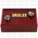 2PCS Sets 1970 1983 BALTIMORE ORIOLES world Series Championship Ring 10-13 size