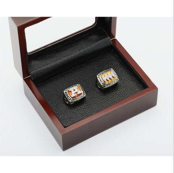 One Set 1991 1993 Buffalo Bills AFC FOOTBALL Championship Ring 10-13 size with cherry wooden