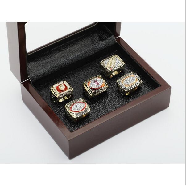 5 PCS 1972 1982 1983 1987 1991 Washington Redskins NFL Super Bowl Championship Ring 10-13 size