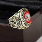 1969 Kansas City Chiefs NFL Super Bowl Championship Ring 10-13 size with cherry wooden case