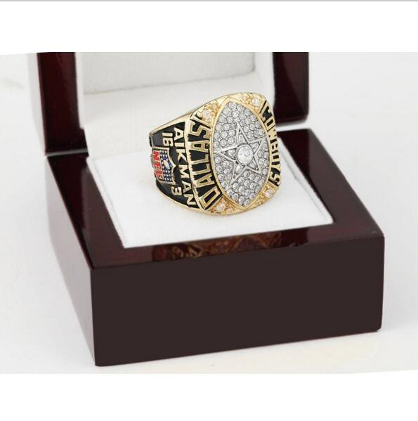 1992 Dallas Cowboys NFL Super Bowl Championship Ring 10-13 size with cherry wooden case