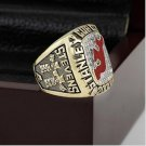 2000 New Jersey Devils NHL Hockey Stanely Cup Championship Ring 10-13 size with cherry wooden case