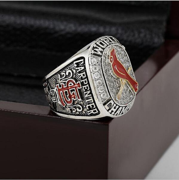 2011 ST LOUIS CARDINALS MLB world Series Championship Ring 10-13 size with cherry wooden case