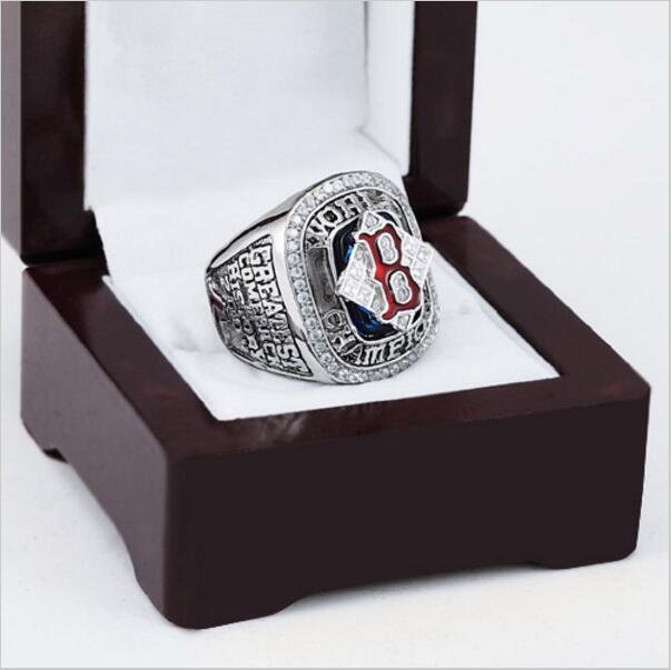 2004 BOSTON RED SOX MLB world Series Championship Ring 10-13 size with cherry wooden case