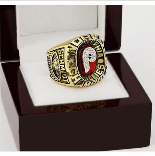 1980 PHILADELPHIA PHILLIES MLB world Series Championship Ring 10-13 size with cherry wooden case