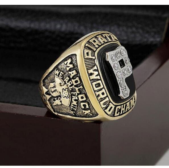 1979 PITTSBURGH PIRATES MLB world Series Championship Ring 10-13 size with cherry wooden case