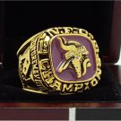 1973 Minnesota Vikings NFC Super bowl Championship Ring 11S Alloy in stock