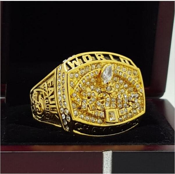 1999 St Louis Rams NFL Super Bowl FOOTBALL Championship Ring 7-15 Size Copper Engraved Inside