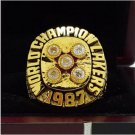 1987 Los Angeles Lakers Basketball world championship ring 8-14S copper solid back ingraved inside