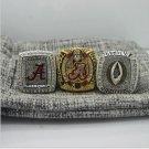 3 PCS 2015 Alabama Crimson Tide CFP SEC AND National Championship Ring 7-15 Size