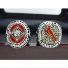 One Set 2 PCS 1964 2011 St. Louis Cardinals MLB World Seires Championship Ring 11S +BOx