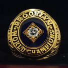 1955 Brooklyn Dodgers first world series Championship Ring copper solid back 8-14 size