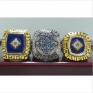 3 PCS 1969 1986 2015 New York Mets world series Championship Ring copper 8-14 size