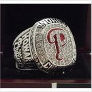 2008 Philadelphia Phillies world series championship ring 8-14S copper solid back