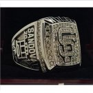2012 San Francisco Giants MLB world series championship ring 8-14S copper solid back