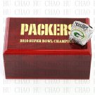 Team Logo wooden case 2010 Green bay packers Super Bowl Championship Ring 10-13 size