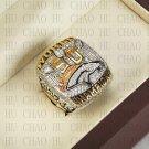 Team Logo wooden case 2015 Denver Broncos Super Bowl Championship Ring 10-13 size solid back