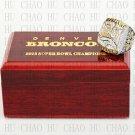 Team Logo wooden case 2015 Denver Broncos Super Bowl Championship Ring 12 size solid back