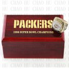 Team Logo wooden case 1996 Green bay packers Super Bowl Championship Ring 10-13 size