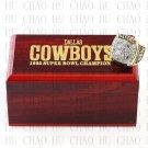 Team Logo wooden case 1995 Dallas Cowboys Super Bowl Championship Ring 10-13 size solid back