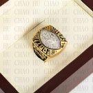 Team Logo wooden case 1989 San Francisco 49ers Super Bowl Championship Ring 10-13 size solid back