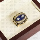 Team Logo wooden case 1990 New York Gaints Super Bowl Championship Ring 10-13 size solid back
