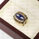 Team Logo wooden case 1990 New York Gaints Super Bowl Championship Ring 10-13 size solid back