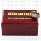 Team Logo wooden case 1987 Washington Redskins Super Bowl Championship Ring 10-13 size